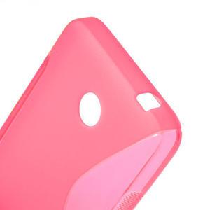 Gélové S-line puzdro na Nokia Lumia 630- ružové - 5