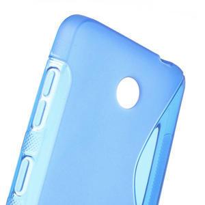 Gélové S-line puzdro na Nokia Lumia 630- modré - 5