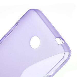 Gélové S-line puzdro na Nokia Lumia 630- fialové - 5