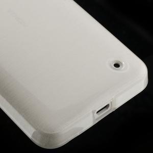 Gélové Kartáčové puzdro na Nokia Lumia 630- biele - 5