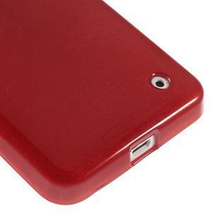 Gélové Kartáčové puzdro na Nokia Lumia 630- červené - 5