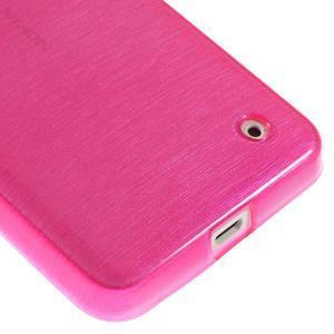 Gélové Kartáčové puzdro na Nokia Lumia 630- ružové - 5