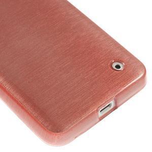 Gélové Kartáčové puzdro na Nokia Lumia 630- svetleružové - 5