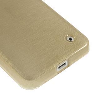 Gélové Kartáčové puzdro na Nokia Lumia 630- zlatavé - 5