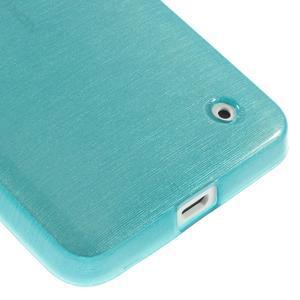 Gélové Kartáčové puzdro na Nokia Lumia 630- modré - 5