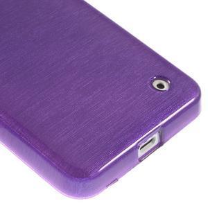 Gélové Kartáčové puzdro na Nokia Lumia 630- fialové - 5