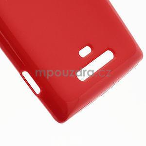 Gélové lesklé puzdro pre Nokia Lumia 925- červené - 5