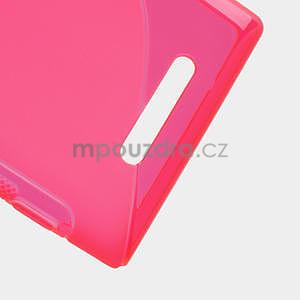Gélové S-liné puzdro pre Nokia Lumia 925- ružové - 5