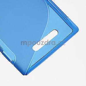 Gélové S-liné puzdro pre Nokia Lumia 925- modré - 5