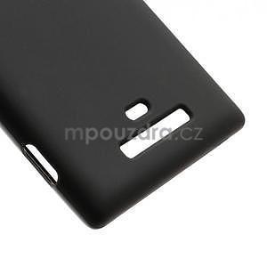 Gélové matné puzdro pre Nokia Lumia 925- čierné - 5