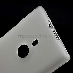 Gélové matné puzdro pre Nokia Lumia 925- biele - 5