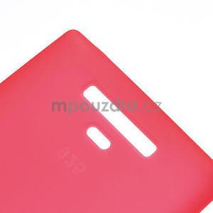 Gélové matné puzdro pre Nokia Lumia 925- červené - 5