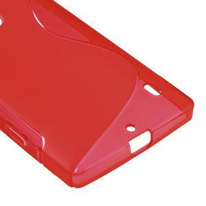 Gélové S-line puzdro na Nokia Lumia 930- červené - 5