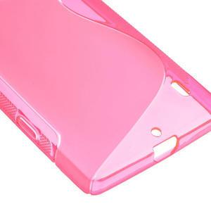 Gélové S-line puzdro na Nokia Lumia 930- růžové - 5