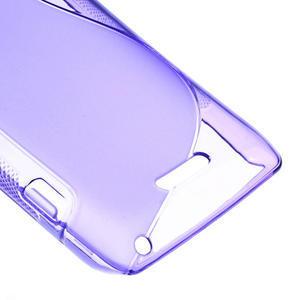 Gélové S-line puzdro na Sony Xperia L C2105- fialové - 5