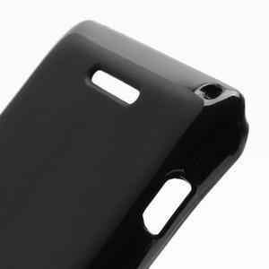 Gélové matné puzdro na Sony Xperia L C2105- čierné - 5