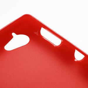 Gélové matné puzdro na Sony Xperia L C2105- červené - 5