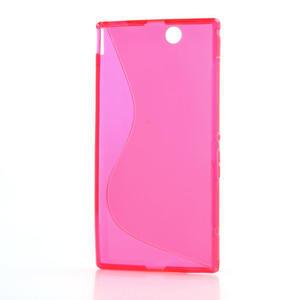 Gélové S-line puzdro pre Sony Xperia Z ultra- ružové - 5