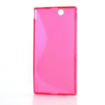 Gélové S-line puzdro pre Sony Xperia Z ultra- ružové - 5/5