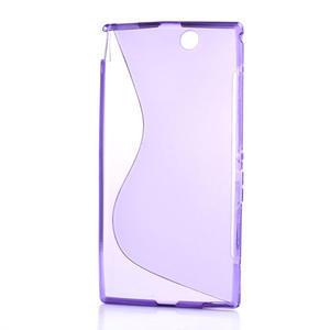 Gélové S-line puzdro pre Sony Xperia Z ultra- fialové - 5
