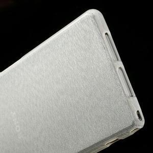 Kartáčované puzdro pre Sony Xperia Z1 C6903 L39- biele - 5