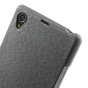 Kartáčované puzdro pre Sony Xperia Z1 C6903 L39- sivé - 5