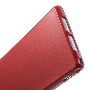 Kartáčované pouzdro na Sony Xperia Z1 C6903 L39- červené - 5