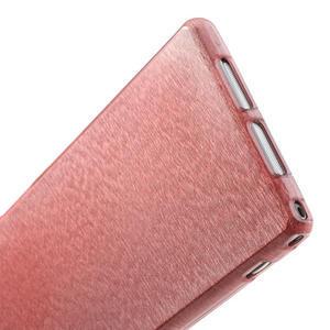 Kartáčované puzdro pre Sony Xperia Z1 C6903 L39- svetleružové - 5