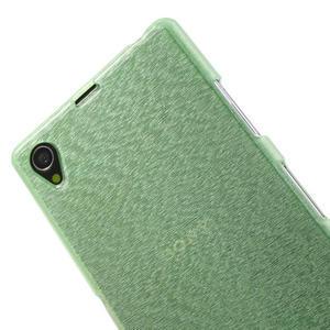 Kartáčované pouzdro na Sony Xperia Z1 C6903 L39- zelenmodré - 5