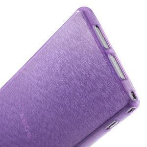 Kartáčované puzdro pre Sony Xperia Z1 C6903 L39- fialové - 5