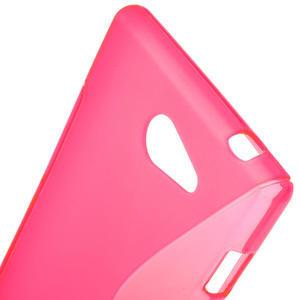 Gélové S-line puzdro na Sony Xperia M2 D2302- růžové - 5