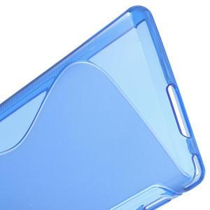Gélové S-line puzdro pre Sony Xperia M2 D2302- modré - 5