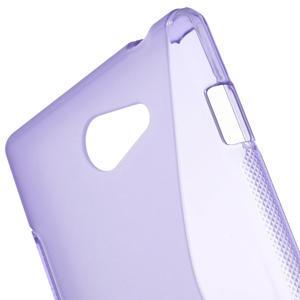 Gélové S-line puzdro pre Sony Xperia M2 D2302- fialové - 5