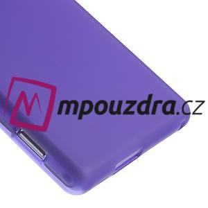 Gélové tenké puzdro na Sony Xperia M2 D2302 - fialové - 5