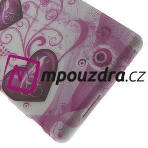 Gélové puzdro na Sony Xperia M2 D2302 - dvě srdce - 5