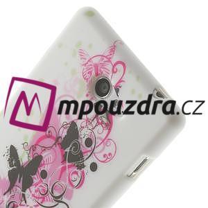 Gélové puzdro na Sony Xperia M2 D2302 - motýlí květ - 5