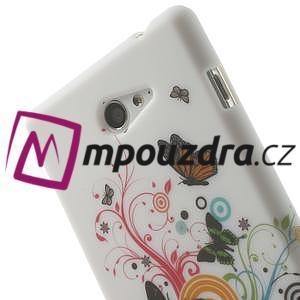 Gélové puzdro pre Sony Xperia M2 D2302 - farební motýľe - 5