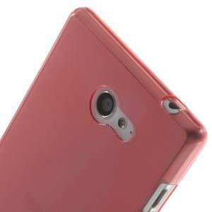Gélové Ultraslim puzdro na Sony Xperia M2 D2302- červené - 5