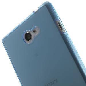 Gélové Ultraslim puzdro na Sony Xperia M2 D2302- modré - 5