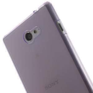 Gélové Ultraslim puzdro pre Sony Xperia M2 D2302- fialové - 5