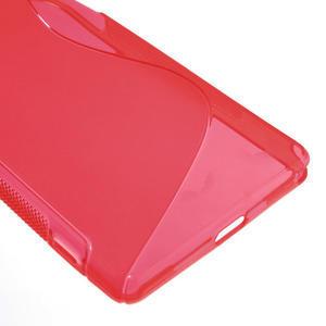 Gelové S-line pouzdro na Sony Xperia Z2 D6503- červené - 5