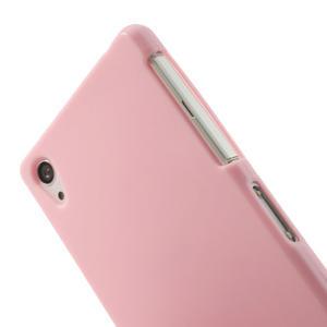 Gélové matné puzdro na Sony Xperia Z2 D6503- růžové - 5