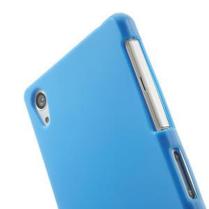 Gélové matné puzdro na Sony Xperia Z2 D6503- modré - 5