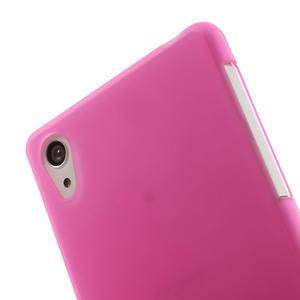 Gélové matné puzdro pre Sony Xperia Z2 D6503- ružové - 5