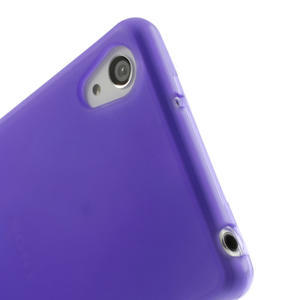 Gélové matné puzdro pre Sony Xperia Z2 D6503- fialové - 5