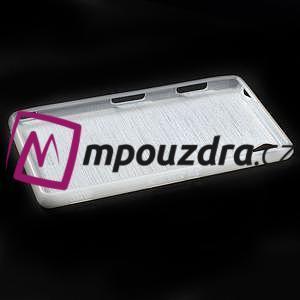 Gelové kartáčové pouzdro na Sony Xperia Z3 D6603 - bílé - 5
