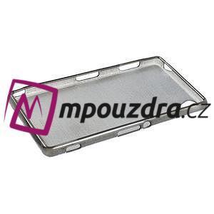 Gelové kartáčové pouzdro na Sony Xperia Z3 D6603 - šedé - 5