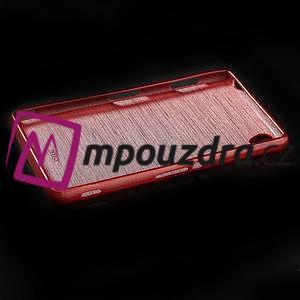 Gelové kartáčové pouzdro na Sony Xperia Z3 D6603 - červené - 5
