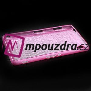 Gelové kartáčové pouzdro na Sony Xperia Z3 D6603 - růžové - 5