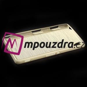Gelové kartáčové pouzdro na Sony Xperia Z3 D6603 - zlatavé - 5